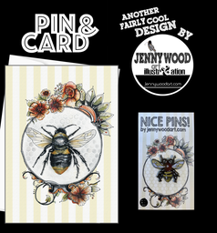 Bee pin and card $12
