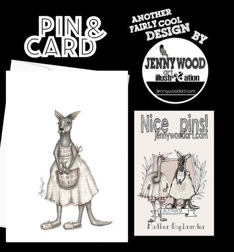 Kangaroo ospherana lapel pin set