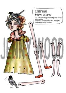Catrina puppet card