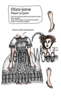 Eliza Jane puppet card