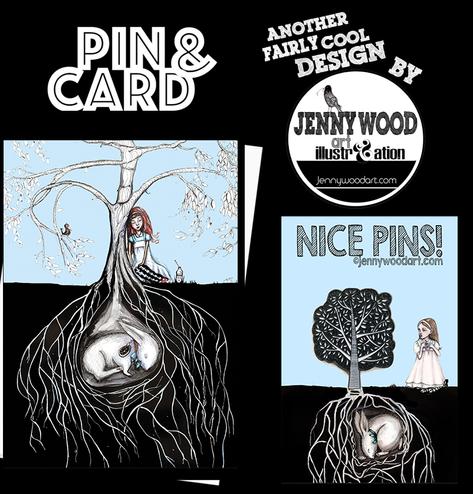 Tree pin and card set $12