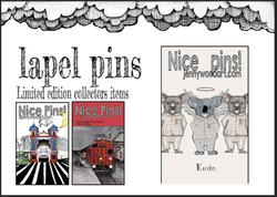 Lapel pins by Jenny Wood