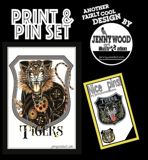 Richmond pin and A4 print $18