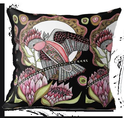 Galah cushion cover