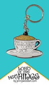 coffe snob key ring