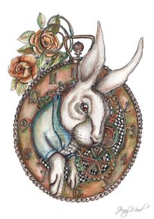 Steampunk white rabbit