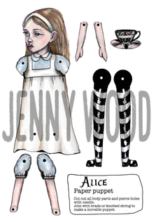 Alice puppet card
