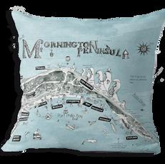 Mornington Peninsula map cushion cover