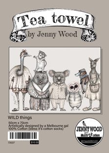 'Wild things' Tea towel (cotton)