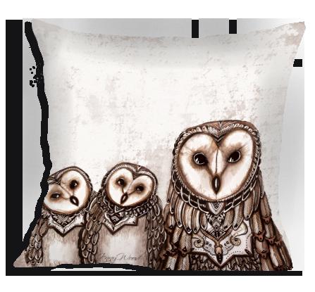 3 Owls cushion