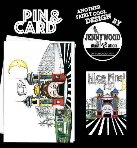 Luna park card and lapel $12