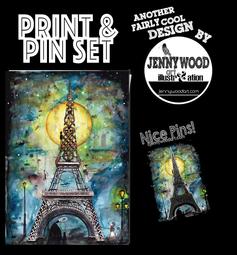 Paris A4 print and pin set $18