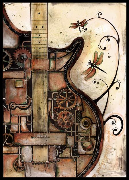 Steampunk guitar A4 $10