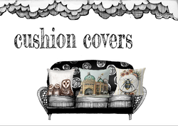 Cushion covers by Jenny Wood