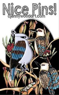 Kookaburra lapel pin