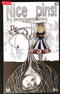Alice lapel pin