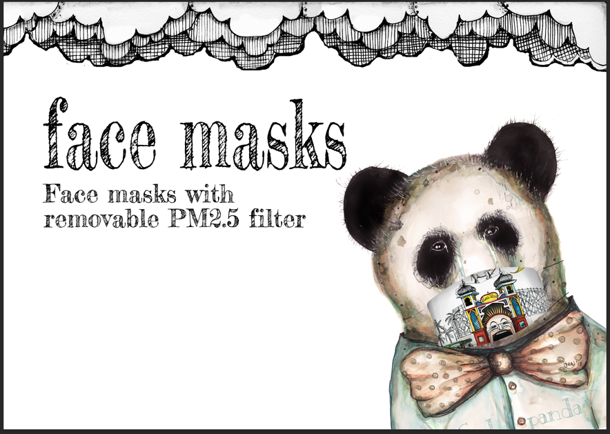 Face masks by Jenny Wood