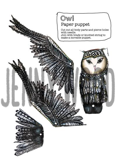 Owl puppet card