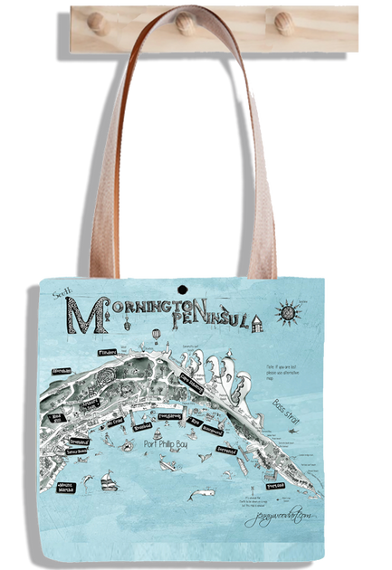 Mornington Peninsula tote bag