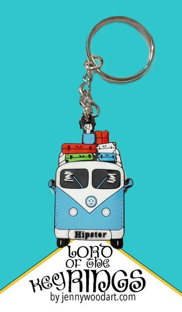 hipster key ring
