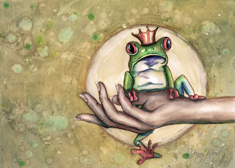 Green tree frog A4 $10