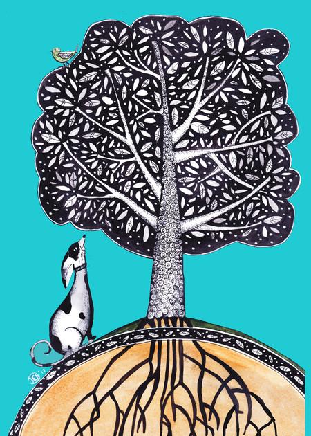 Dog tree A4 $10