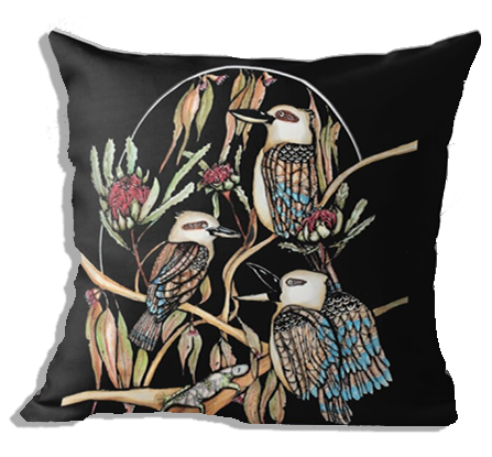 Kookaburra trio cushion cover