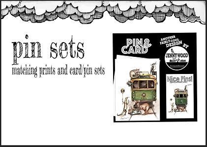 Pin and card sets