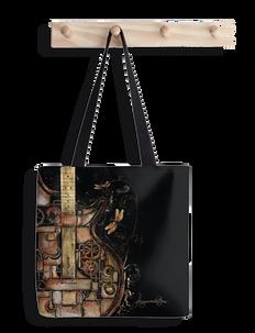 Steampunk guitar tote bag