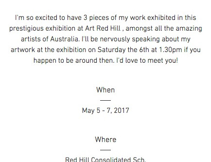 Art Redhill exhibition