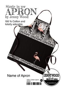 Flamingo apron by Jenny Wood