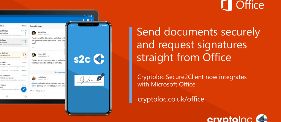 Send documents securely and request signatures straight from Microsoft Office
