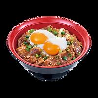 206 double half boiled egg beef yakiniku