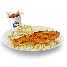 Grilled Salmon with Teriyaki sauce