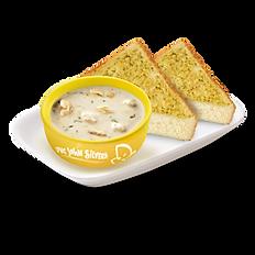 Clam Chowder with 2pc Garlic Toast