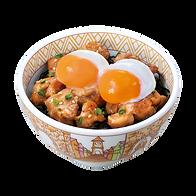 406 double half boiled egg yakitori bowl