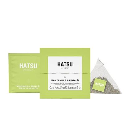 Infusión Manzanilla y Regaliz Caja 12 unidades Hatsu