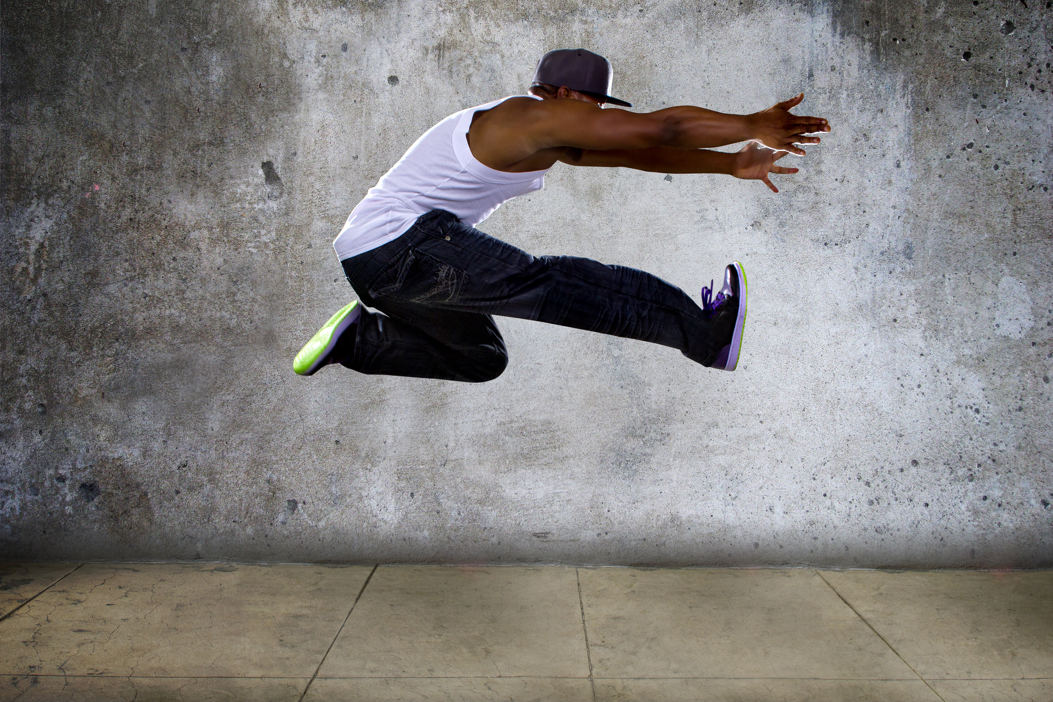 Urban Black Man Jumping High.jpg