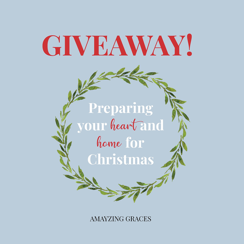 Advent Giveaway, Karen May, Amayzing Graces