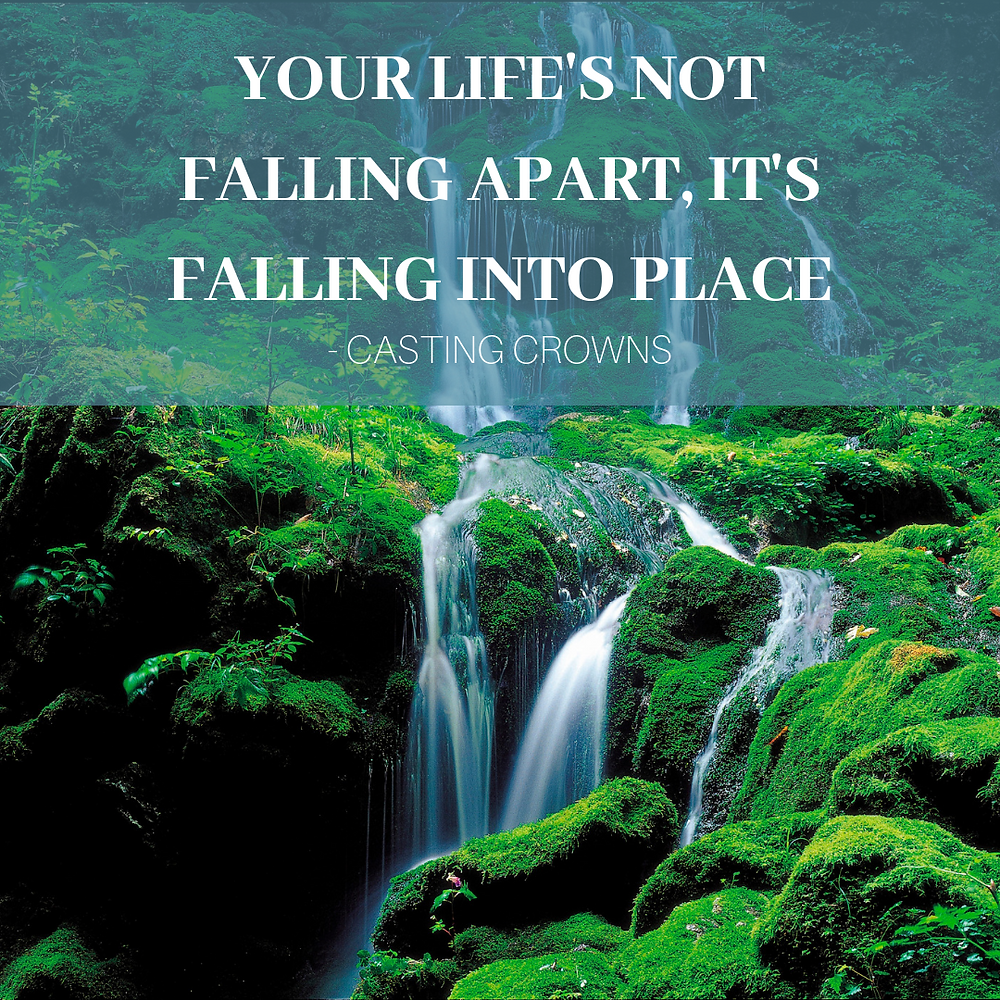 your life's not falling apart, it's falling into place, Casting Crowns, Karen May, Amayzing Graces
