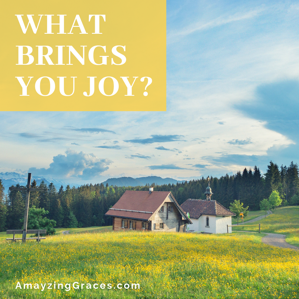 What brings you joy, Karen May, Amayzing Graces