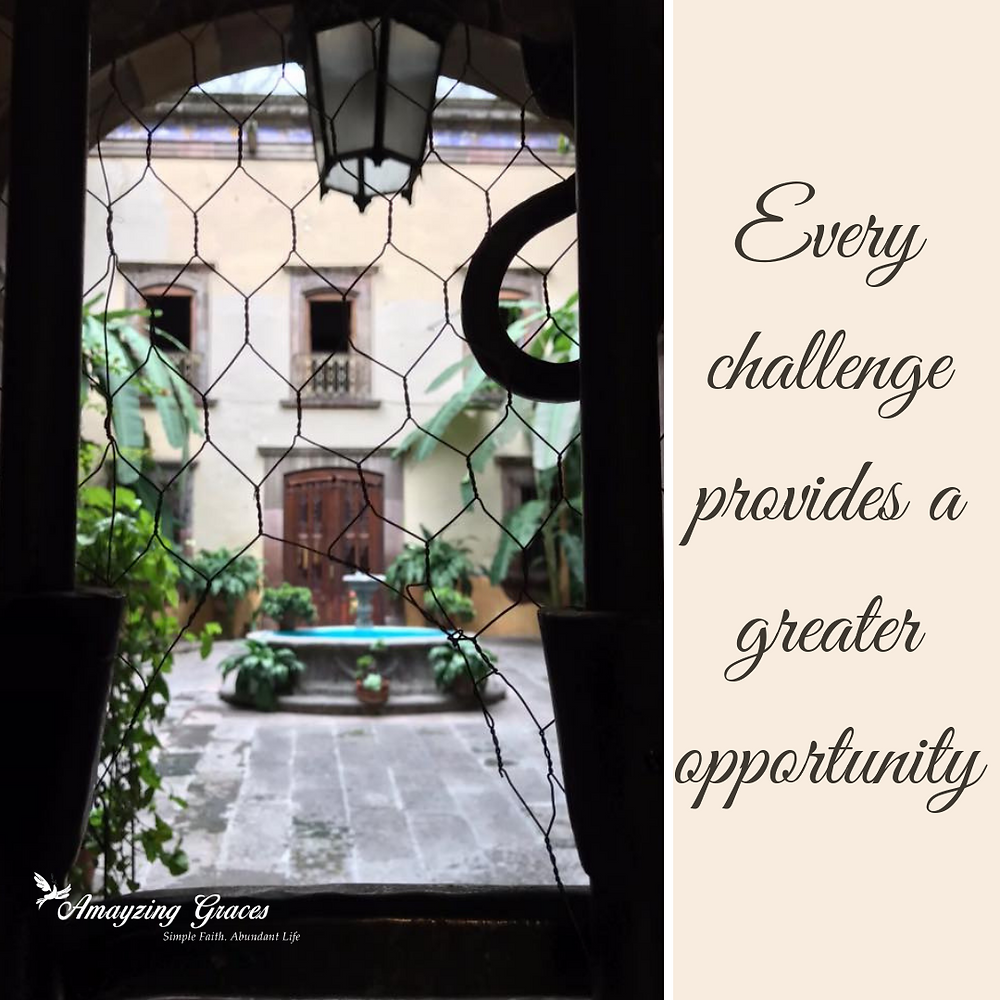 Every challenge provides a greater opportunity, Karen May, Amayzing Graces, called to holiness