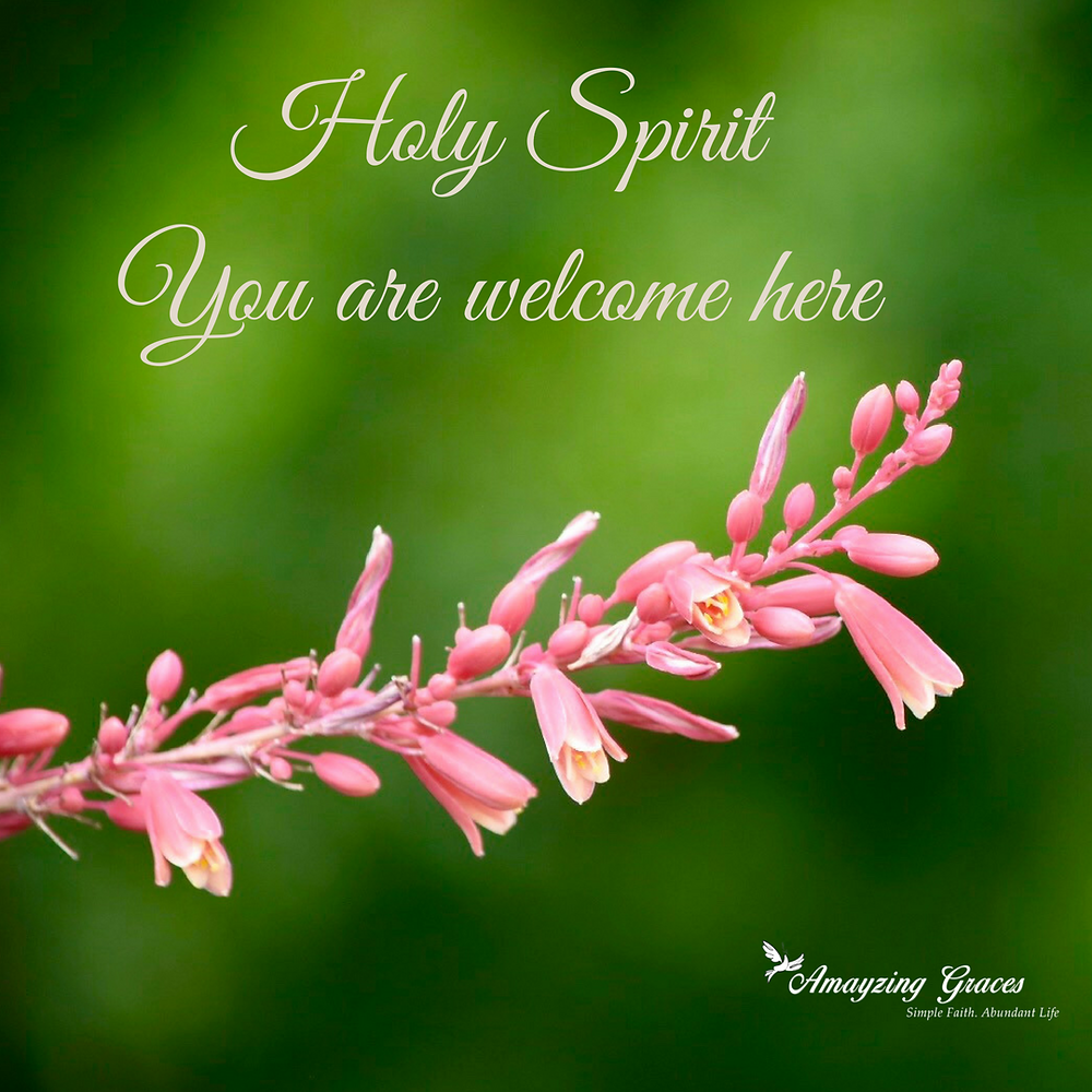 Holy Spirit you are welcome here, prayer, Karen May, Amayzing Graces