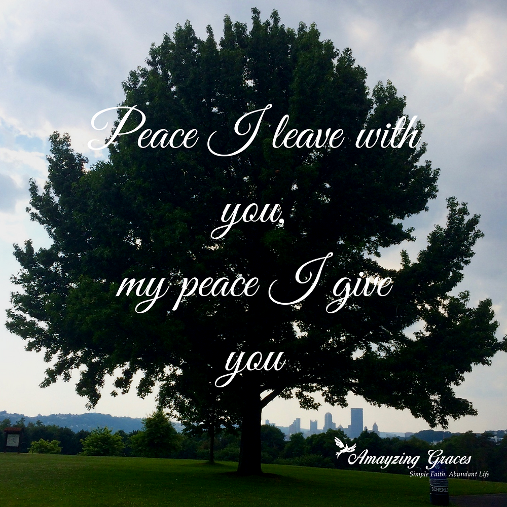 Peace I leave with you, my peace I give you, Fruits of the Spirit, Karen May, Amayzing Graces