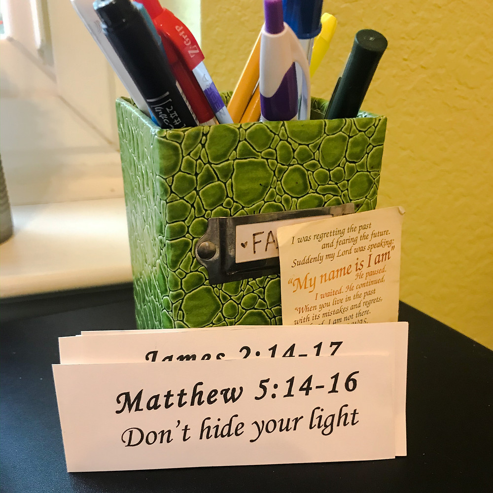 Matthew 5:14-16, Don't hide your light, Karen May, Amayzing Graces