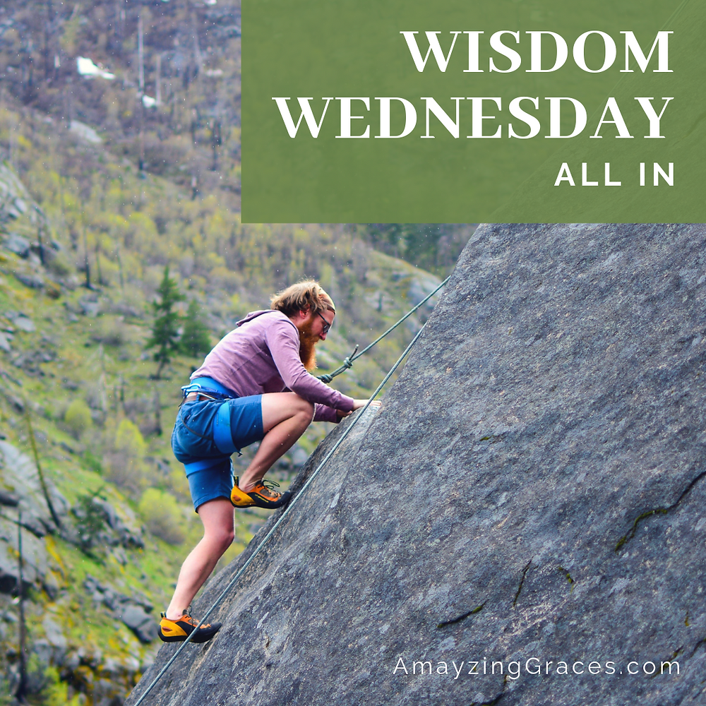 Wisdom Wednesday, All in, Karen May, Amayzing Graces