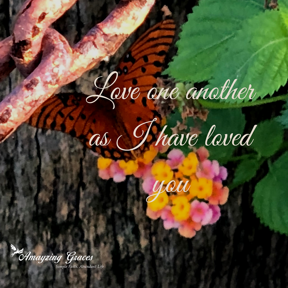 Love one another as I have loved you, Fruits of the Spirit, Charity, Love, Holy Spirit, Karen May, Amayzing Graces