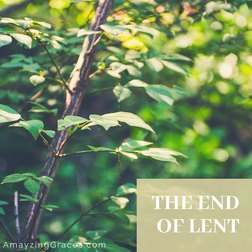 The end of Lent, Karen May, Amayzing Graces, Walking Through Holy Week