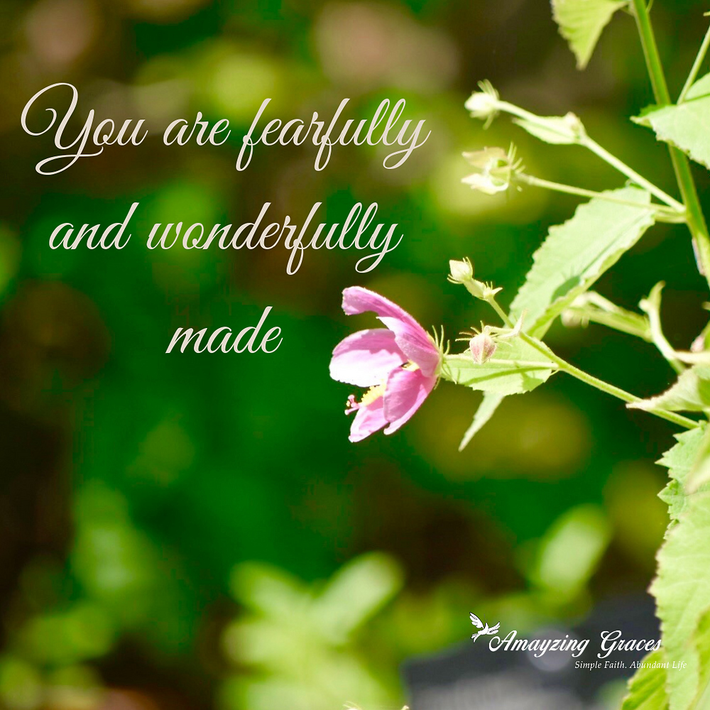 You are fearfully and wonderfully made, Fruits of the Spirit, Holy Spirit, Psalm 139, Karen May, Amayzing Graces