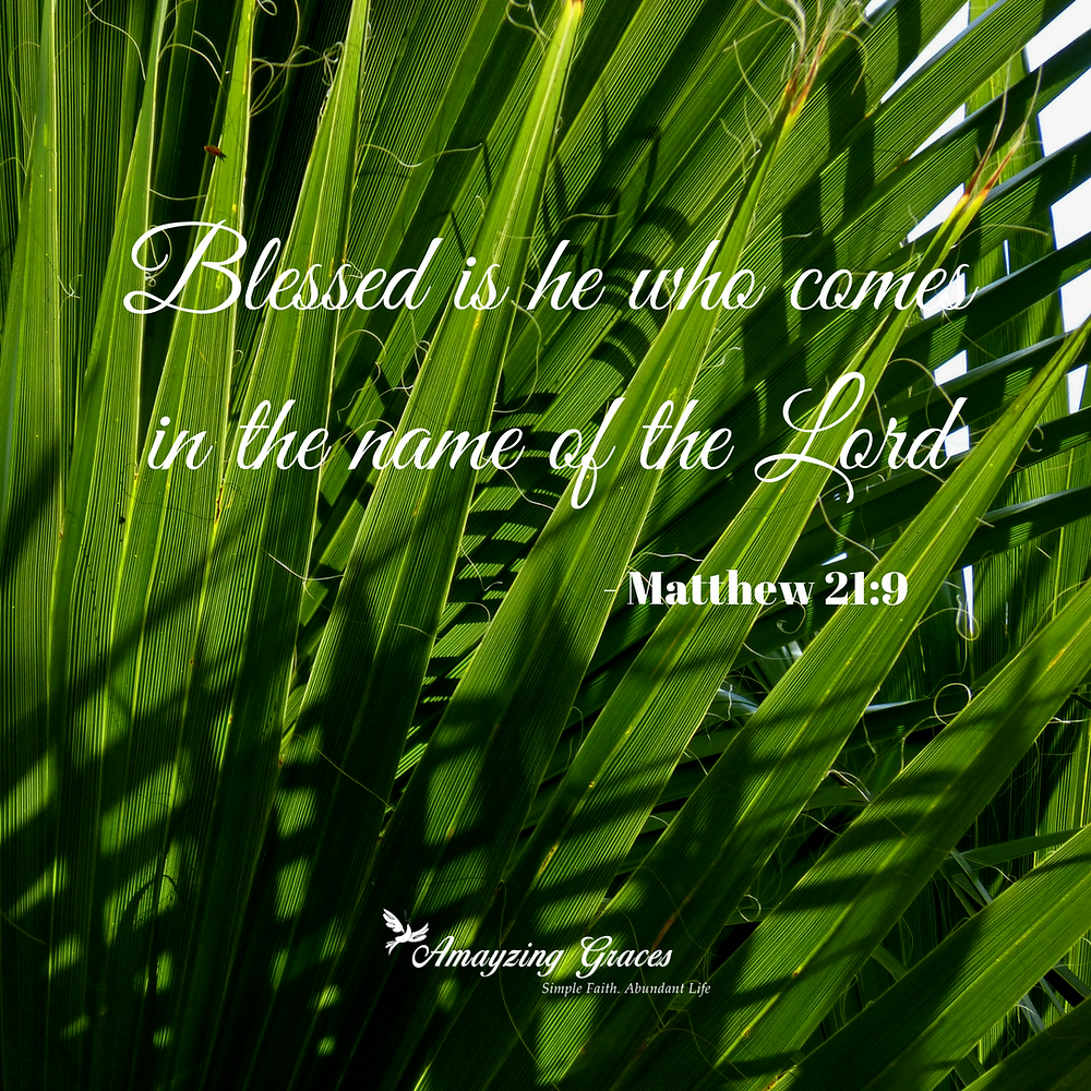 Blessed is he who comes in the name of the Lord, Karen May, Amayzing Graces